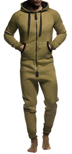 LEIF NELSON Herren Overall Jumpsuit Onesie Trainingsanzug Jogginghose Trainings T-Shirt Fitness Stringer Bekleidung