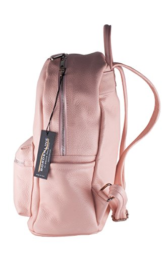 BORDERLINE - 100% Made in Italy - Sac à dos en cuir réel - AIDA Rose