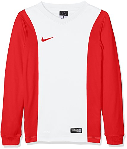 Nike Long Sleeve Top YTH Park Derby Jersey, Bambini, Jersey Park Derby LS, Bianco/Rosso, L