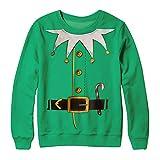 Herren Männer Ugly Christmas Sweater digitalen 3D Lässig Druck Weihnachtspullover Langarm Rundhals Hemd Tops Kurzarm T-Shirt Neuheit Festival Pullover Oberteil Innerternet