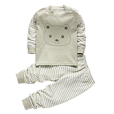 100% Cotton Baby Boys Girls Pajamas Set Long Sleeve Sleepwear(6M-5Years) (Tag55(12-24 months), Pattern 2)