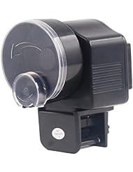 Omeny 1 Pc Dispensador de alimentador automático con temporizador para acuario (Negro)