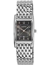 Dugena Damen-Armbanduhr Quadra Artdeco - Traditional Classic Analog Quarz Edelstahl 7000126