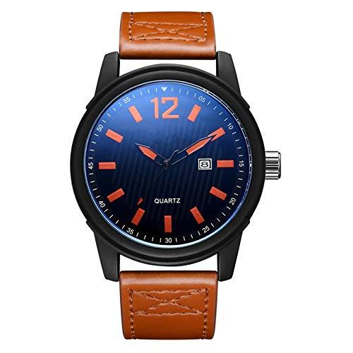 Armbanduhr Herrenuhr Armbanduhren COOKDATE Geschäfts-Mode-Luxusuhr-beiläufiger voller Stahlkalender-Quarz Armbanduhren Herrenarmbanduh Herrenuhr Herrenarmbanduh (A)