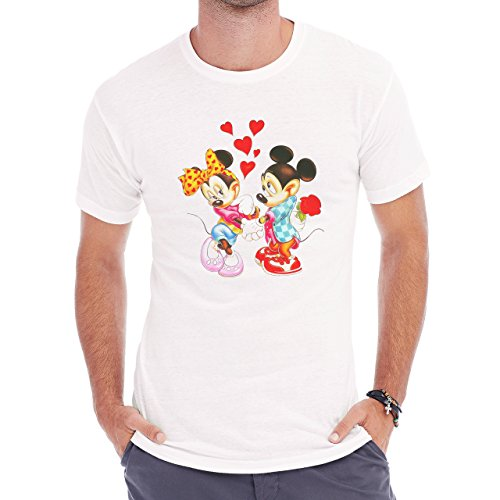 Mickey Classic Picture Love Herren T-Shirt Weiß