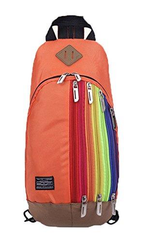 Baymate Unisex Sportiva Zaino Con Un Sacco Di Tasche Per Sport Outdoor Arancia