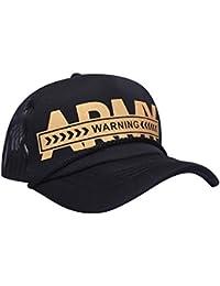 2a3ed68f45cbb SoSh Unisex Denim Net Army Soldier Adjustable Plain Baseball Cap (Black