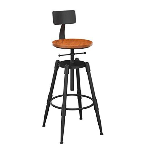 Barhocker YYF 68-90 cm Kreative Eisen Bar Tisch Bar Stuhl Retro Alten Holz Hohe Hocker (Farbe : Board, größe : B) -