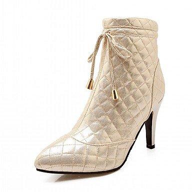 Rtry Femmes Chaussures Pu Similicuir Automne Hiver Confort Nouveauté Mode Bottes Bottes Talon Stiletto Toe Booties / Bottines À Lacets Pour Us7.5 / Eu38 / Uk5.5 / Cn38