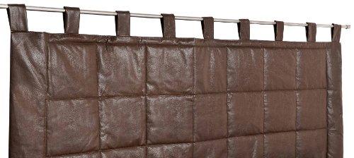 Linder 0523/56/807/160 - Cabecero de cama de tela para colgar en barra (70 x 160 cm, poliéster guatinado y algodón), color marrón