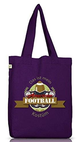 American Football Kostüm für NFL Superbowl Fans Dark Violet