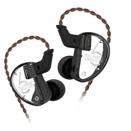Republe KZ AS06 3BA Drive In-Ohr-Kopfhörer 3 Balanced Armature Abnehmbare Detach 2PIN Kabel HiFi Sport-Kopfhörer (Triple-balanced-armature -)