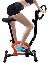 Tatayang - Cyclette Regolabile in Altezza, con Display LCD e frequenza cardiaca, Pedali Interni per Ciclismo, Fitness, 110 kg Max