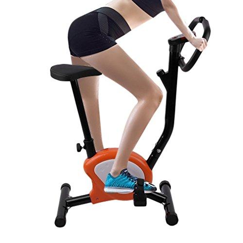 Tatayang Höhenverstellbar Aufrechtes Heimtrainer, Cardio Bike Fitness Fahrrad Fitnesspersonal mit LCD Display und Herzfrequenz, Innen Radfahren Fahrrad Fitness Pedal,110kg Max