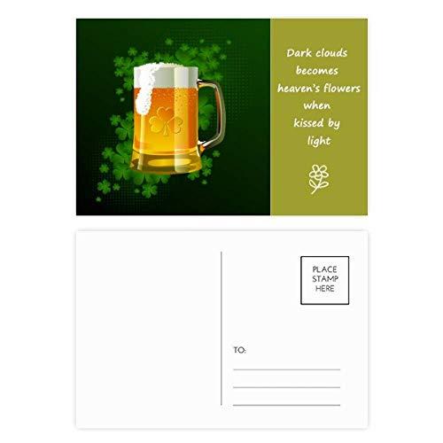 """Postkarten-Set mit englischsprachiger Aufschrift""""Beer Irland"""", englische Aufschrift, 20 Stück"""