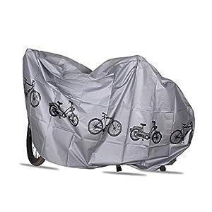 41mrZ22X3ML. SS300 Volwco, Copertura per Bicicletta da Esterno, Impermeabile, per Pioggia, Sole, Raggi UV, Polvere, Vento, con Foro di bloccaggio, per Mountain Bike, Bici elettrica