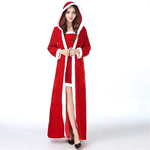 Christmas Adult Costumes, Fat Flocking Cosplay Suit, Dense Velvet Material, Size Code, Ladies ' Clothes ()