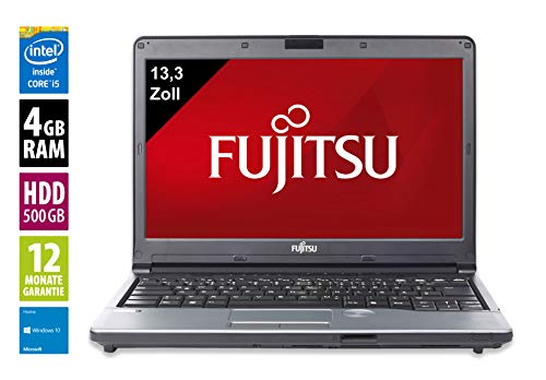 Fujitsu Lifebook S762   Notebook / Laptop   13,3 Zoll (1366x768)   Intel Core i5-3320M @ 2,6 GHz   4GB DDR3 RAM   500GB HDD   DVD-Brenner   Windows 10 Home (Zertifiziert und Generalüberholt) Lifebook Laptop-notebooks