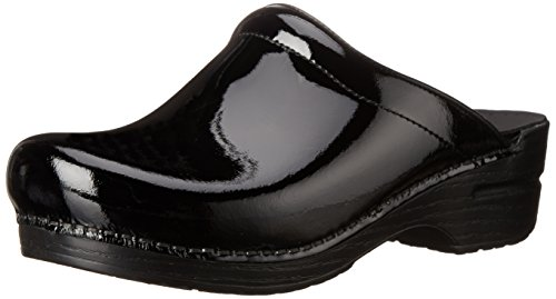 Dansko Women's Sonja Patent Leather Clog,Black,41 EU/10.5-11 B(M) US