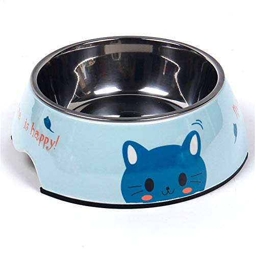 LY/WEY Pet Cat and Dog Stainless Steel Clean and Durable Slip-Proof Feeding Bowl 1Pcs,American Telephone and Telegraph Company,D American Telephone