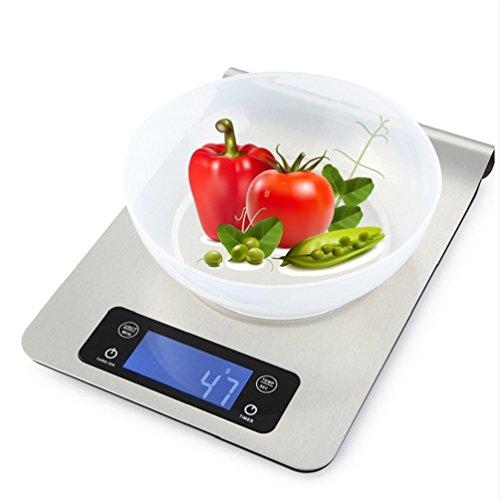 wenrit Küche Digitalwaage Edelstahl Lochabgleich Wasserdichte Wand Montiert Elektronische Lebensmittelwaage mit LCD Display 5 kg (Keine batterien)