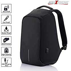 AllExtreme Anti theft Backpack Business Laptop Bag with USB Charging Port Waterproof School College Travel Hiking Camping Organizer Bag Anti-theft Bagpack for 14 Inch Laptop, Notebook, Camera and Mobile (Black)