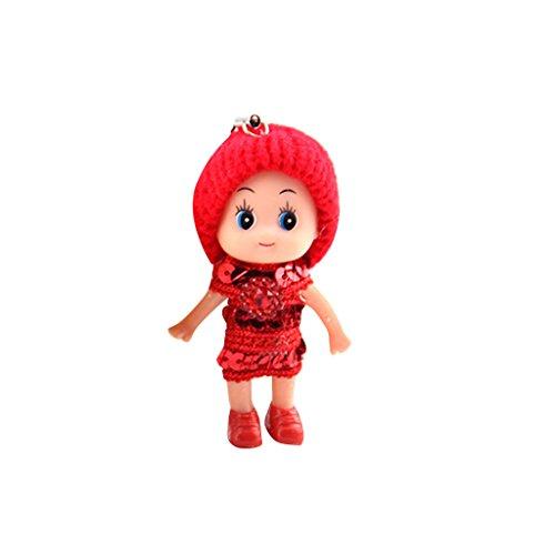 Generic Casuale Colore Mini Bambola Doll Pendant Charm del Telefono Cellulare Borsa Zaini Decor Portachiavi