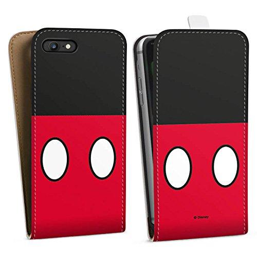 Apple iPhone X Silikon Hülle Case Schutzhülle Disney Mickey Mouse Hosen Geschenke Merchandise Downflip Tasche weiß