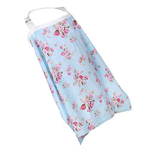 B Baosity Allaitement Couverture 100% Coton Respirant Réglable Courroie d'allaitement Foulard Multi-Fonctionnelle Poussette Couvre pour Maman et Bébé - Fleur