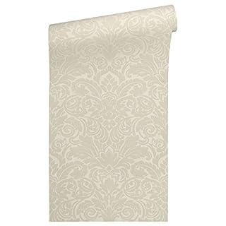 Architects Paper beflockte Vliestapete Castello Tapete Luxustapete klassisch neo-barock 10,05 m x 0,52 m beige Made in Germany 335831 33583-1