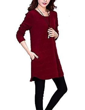 chff888 NUOVO donna maglione casual manica lunga larga Pocket T-shirt t-158