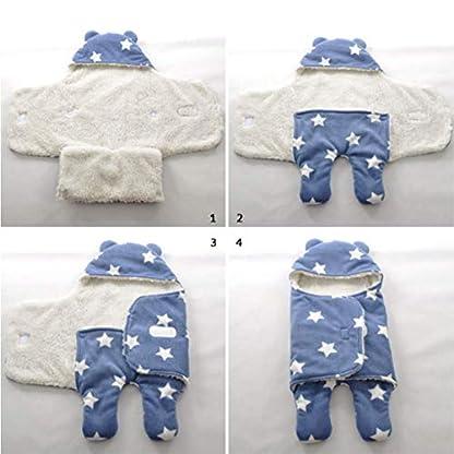 Manta infantil Bebe invierno Saco de dormir bebé recién nacido Nido de ángel Bebé recién nacido Unisex abrigado Vellón con pies separados asientos de auto Asientos Conchas Camas Cochecitos