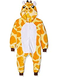 Kigurumi Costume Cosplay Halloween E Pigiama-Giraffe, Pijama Unisex-Niños