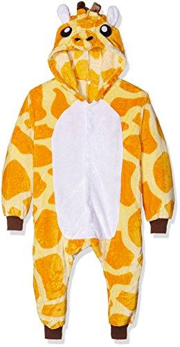 Kigurumi costume cosplay halloween e pigiama-giraffe, unisex bambini, 85