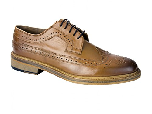 001f87f8665 CATESBY SHOEMAKERS Benn Mens Leather Goodyear Welted Brogues Tan UK 12