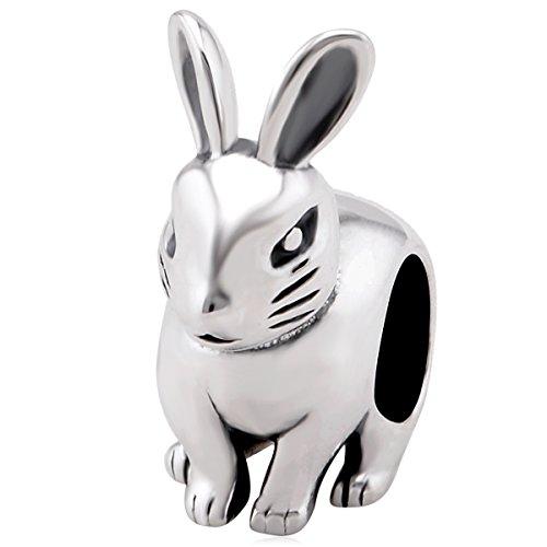 925 Sterling Silber Tier Charms Hase passt für Pandora Armband Geschenk für Familie/Freund