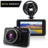 """[2018 NEWEST] Dash Cam 1080P DVR Dashboard Fotocamera Full HD 3 """"Schermo LCD 170 ° Grandangolo, WDR, G-Sensor, Registrazione Loop Rilevamento del Movimento Immagini Video Eccellenti (Nero)"""