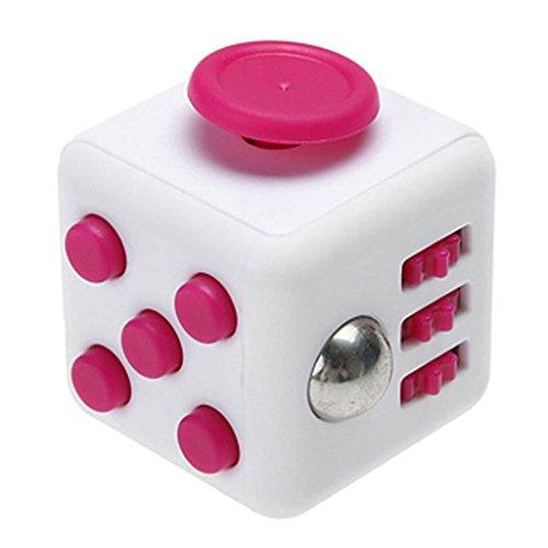 HOFOO Juguete cubo alivia el estrés ansiedad la atención los dados contra la ansiedad y la depresion cubo de juguete para niños y adultos Radom color