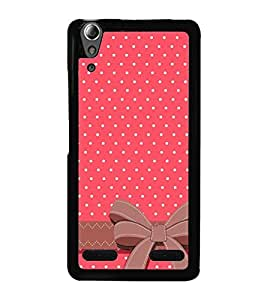 Pink Pattern with Bow 2D Hard Polycarbonate Designer Back Case Cover for Lenovo A6000 :: Lenovo A6000 Plus :: Lenovo A6000+