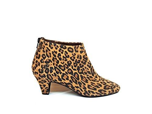 GENNIA ELIPE, Damen Stiefel & Stiefeletten, Leder Suede Print Leopard, Grösse 42 (Print Stiefel Leopard)