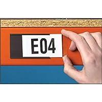 Caledonia signos 59875magnético titular de la etiqueta, 80mm x 50mm (100unidades)