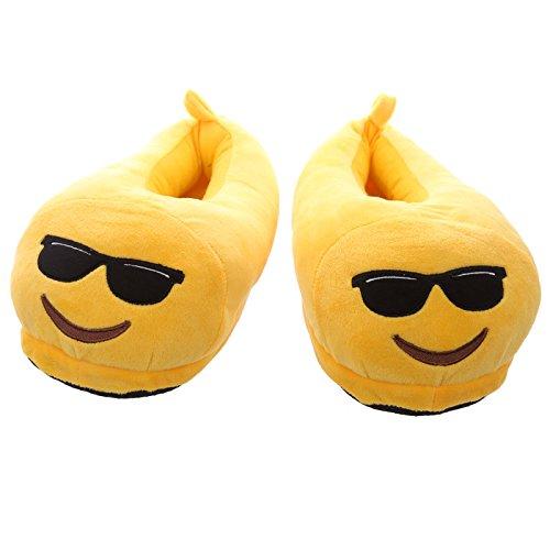Ciabatte Pantofole Emoticon emoji occhiali da sole