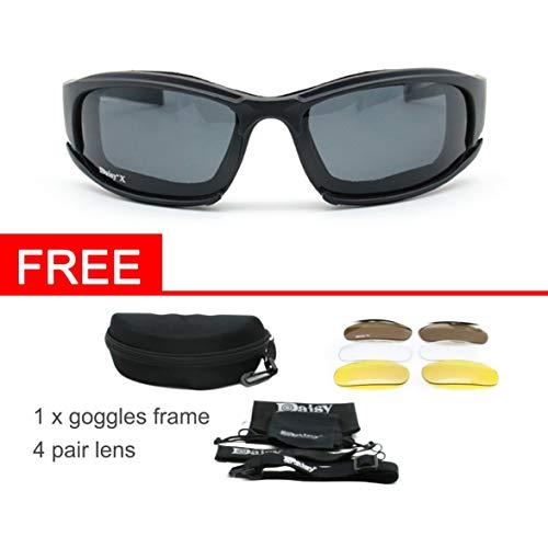 Kongqiabona Motorrad Radfahren X7 Tactical Shooting Eyewear Wanderbrille Polarisierte Sport Sonnenbrille Unterstützung Nachtsicht