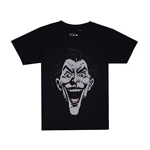 DC Comics Joker Lines Camiseta, Negro (Black Blk), 7-8 años (Talla del Fabricante: Large) para Niños