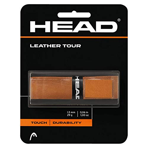HEAD Unisex- Erwachsene Leather Tour Griffband, Brown, One Size
