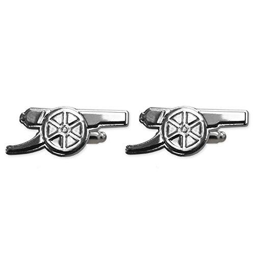 Arsenal FC - Manschettenknöpfe - Offizielles Merchandise - Geschenk für Fußballfans - Verchromt (Arsenal Manschettenknöpfe)