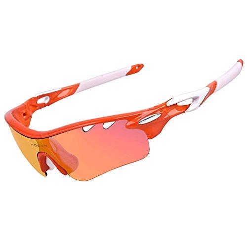 763243cf4d Deportivas gafas de sol polarizadas con 5 lentes intercambiables para  hombres mujeres ciclismo running de béisbol