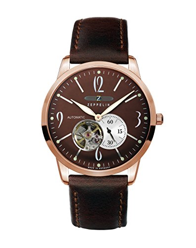 Zeppelin Gents Watch Flatline Automatic With Open Heart 7362-5