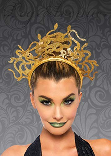 Leg Avenue Gold Glitter Medusa Schlange Stirnband