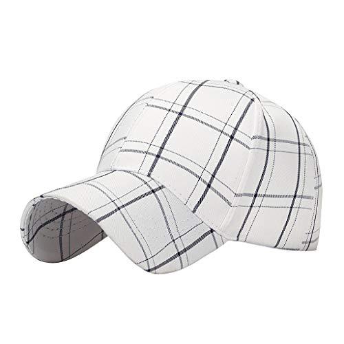 Nyuiuo Frauen Männer Baumwolle Baseball Cap Hut Einstellbare Plaid gedruckt Casual Sport Hüte -